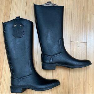Sam Edelman Ximon tall rubber rain boots, 7.